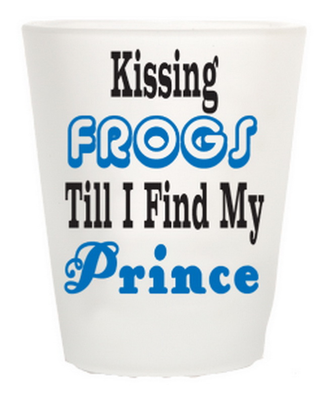 KISSING FROGS TILL I FIND MY PRINCE SHOT GLASS 12PC * UOM: * Minimum Order: